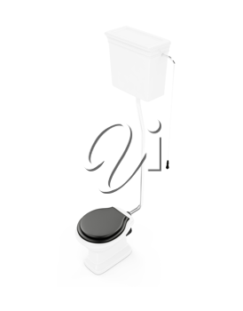 Royalty Free Clipart Image of a Toilet