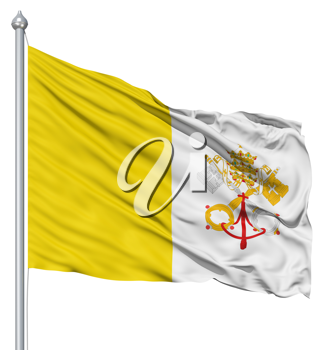 Royalty Free Clipart Image of the Vatican City Flag