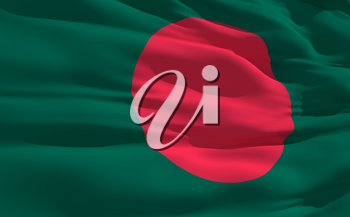 Royalty Free Clipart Image of the Flag of Bangladesh