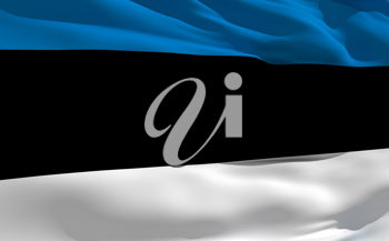 Royalty Free Clipart Image of the Flag of Estonia