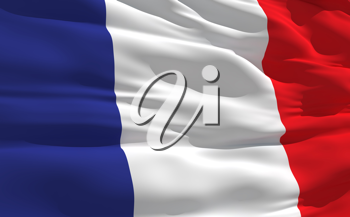 Royalty Free Clipart Image of the Flag of France