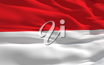 Royalty Free Clipart Image of the Flag of Indonesia