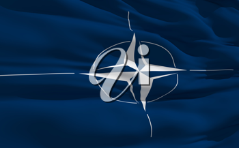 Royalty Free Clipart Image of the Nato Flag