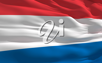 Royalty Free Clipart Image of a Flag of the Netherlands