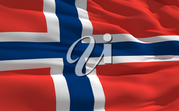 Royalty Free Clipart Image of the Flag of Norway