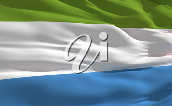 Royalty Free Clipart Image of the Flag of Sierra Leone