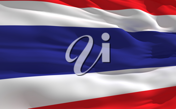 Royalty Free Clipart Image of the Flag of Thailand