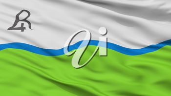 Rio Cuarto City Flag, Country Argentina, Closeup View, 3D Rendering