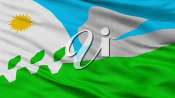 Tandil City Flag, Country Argentina, Closeup View, 3D Rendering