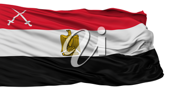Army Of Egypt Flag, Isolated On White Background, 3D Rendering