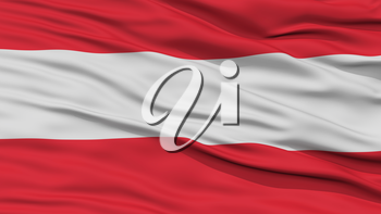 Closeup Austria Flag, Waving in the Wind, High Resolution
