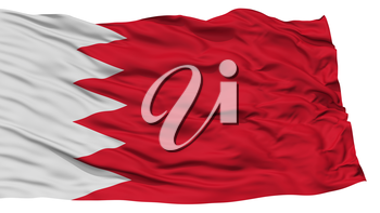 Isolated Bahrain Flag, Waving on White Background, High Resolution