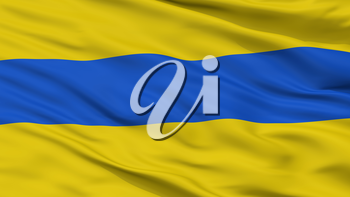 Ottignies Lln City Flag, Country Belgium, Closeup View, 3D Rendering