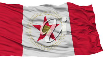 Isolated Birmingham City Flag, City of Alabama State, Waving on White Background, High Resolution