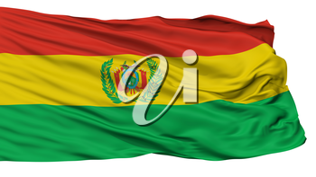 Bolivia Militar Flag, Isolated On White Background, 3D Rendering