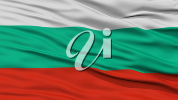 Closeup Bulgaria Flag, Waving in the Wind, High Resolution