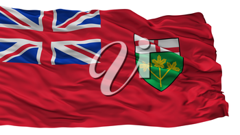 Ontario City Flag, Country Canada, Isolated On White Background, 3D Rendering