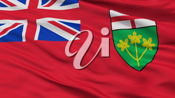 Ontario City Flag, Country Canada, Closeup View, 3D Rendering
