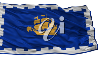 Quebec City City Flag, Country Canada, Isolated On White Background, 3D Rendering