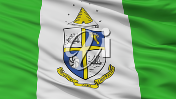 St Catharines City Flag, Country Canada, Ontario, Closeup View, 3D Rendering