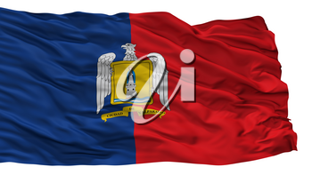 Valparaiso City Flag, Country Chile, Isolated On White Background, 3D Rendering
