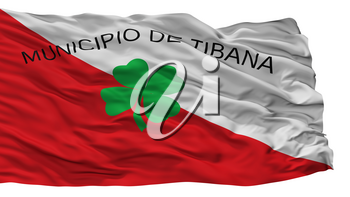 Tibana City Flag, Country Colombia, Boyaca Department, Isolated On White Background, 3D Rendering