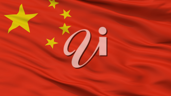 Republic Of China City Flag, Country China, Closeup View, 3D Rendering