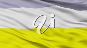 Bosconia City Flag, Country Colombia, Cesar Department, Closeup View, 3D Rendering
