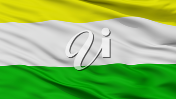 Guacari City Flag, Country Colombia, Valle Del Cauca, Closeup View, 3D Rendering