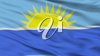 Riohacha City Flag, Country Colombia, Closeup View, 3D Rendering