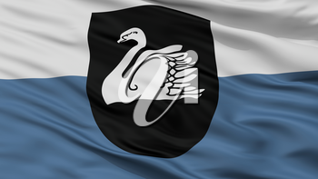 Gulbene City Flag, Country Latvia, Closeup View, 3D Rendering