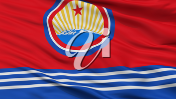 North Korea Naval Ensign Flag, Closeup View, 3D Rendering