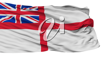 United Kingdom Naval Ensign Flag, Isolated On White Background, 3D Rendering