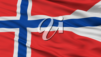 Norway State Flag, Closeup View, 3D Rendering
