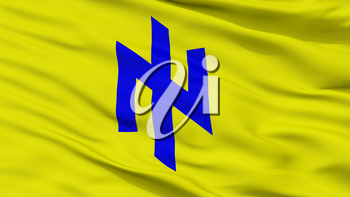 Social National Party Flag, Closeup View, 3D Rendering
