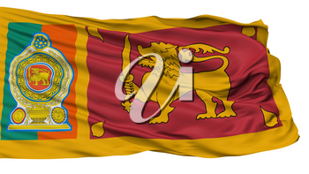 Sri Lankan Army Flag, Isolated On White Background, 3D Rendering