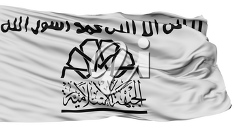 Islamic Front Syria Flag, Isolated On White Background, 3D Rendering