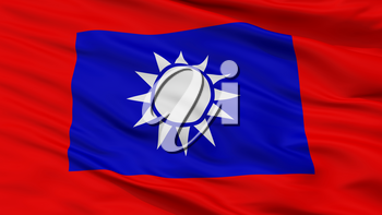 Republic Of China Army Flag, Closeup View, 3D Rendering