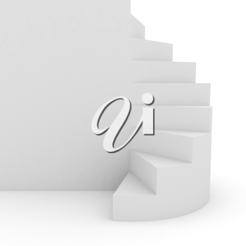 Royalty Free Clipart Image of a White Staircase