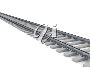 Royalty Free Clipart Image of a Railroad