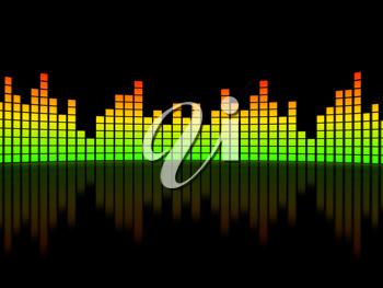 Royalty Free Clipart Image of an Equalizer Background