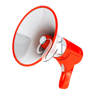 Royalty Free Clipart Image of a Megaphone