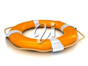 Royalty Free Clipart Image of a Lifebuoy