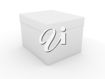 Royalty Free Clipart Image of a White Box