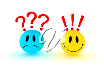Royalty Free Clipart Image of Smiley Faces