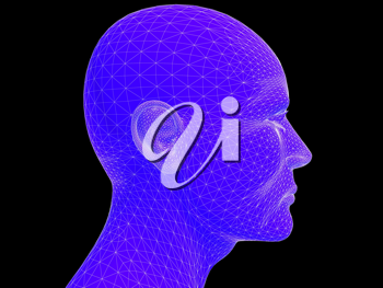 Royalty Free Clipart Image of a Person's Head