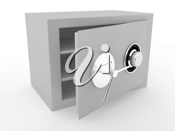 Royalty Free Clipart Image of a Grey Safe