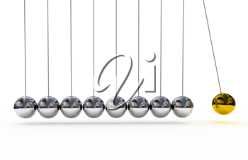 Royalty Free Clipart Image of Shiny Pendulums
