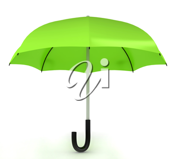 Royalty Free Clipart Image of a Green Umbrella