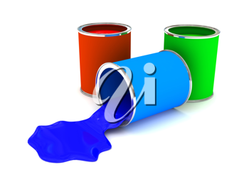 Royalty Free Clipart Image of Paint Cans